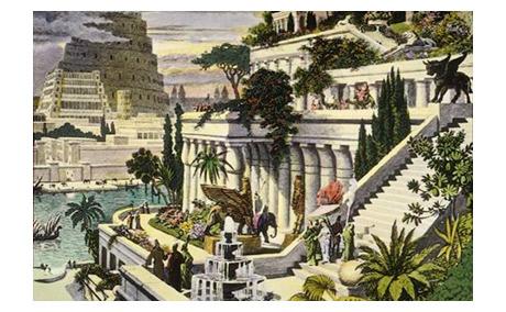 Hanging Gardens Babylon Painting