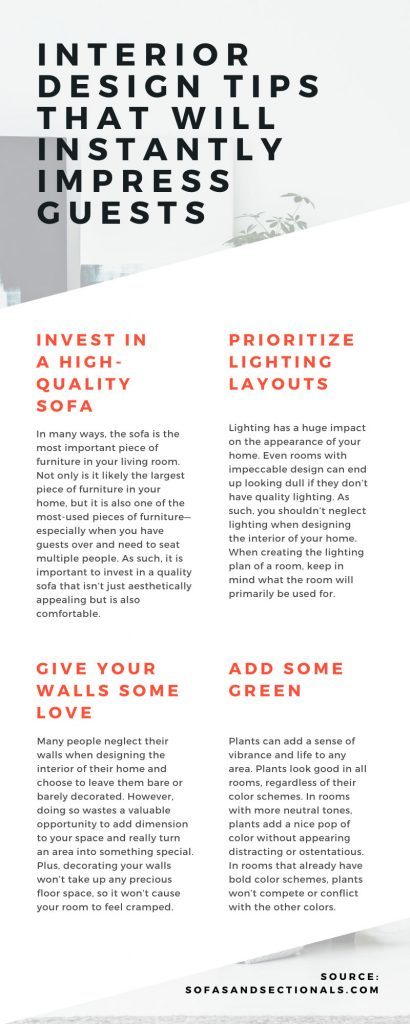 Interior Design Tips that Will Instantly Impress Guests Infographic