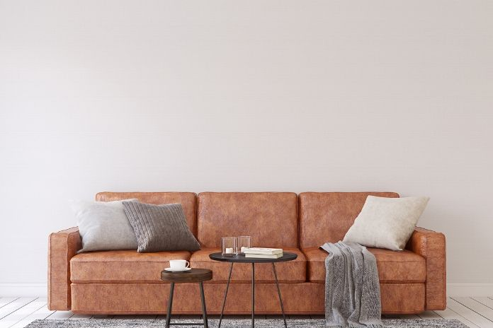 A sofa in a modern living room.