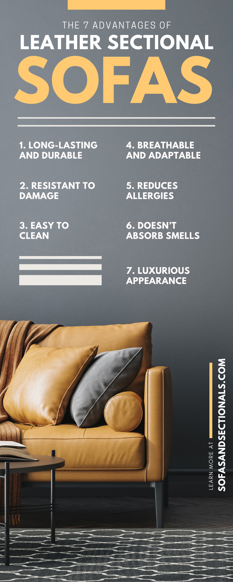 The 7 Advantages of Leather Sectional Sofas